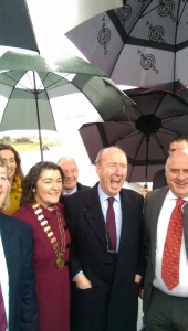 Transport Minister Shane Ross at the opening of the M17/M18 today.