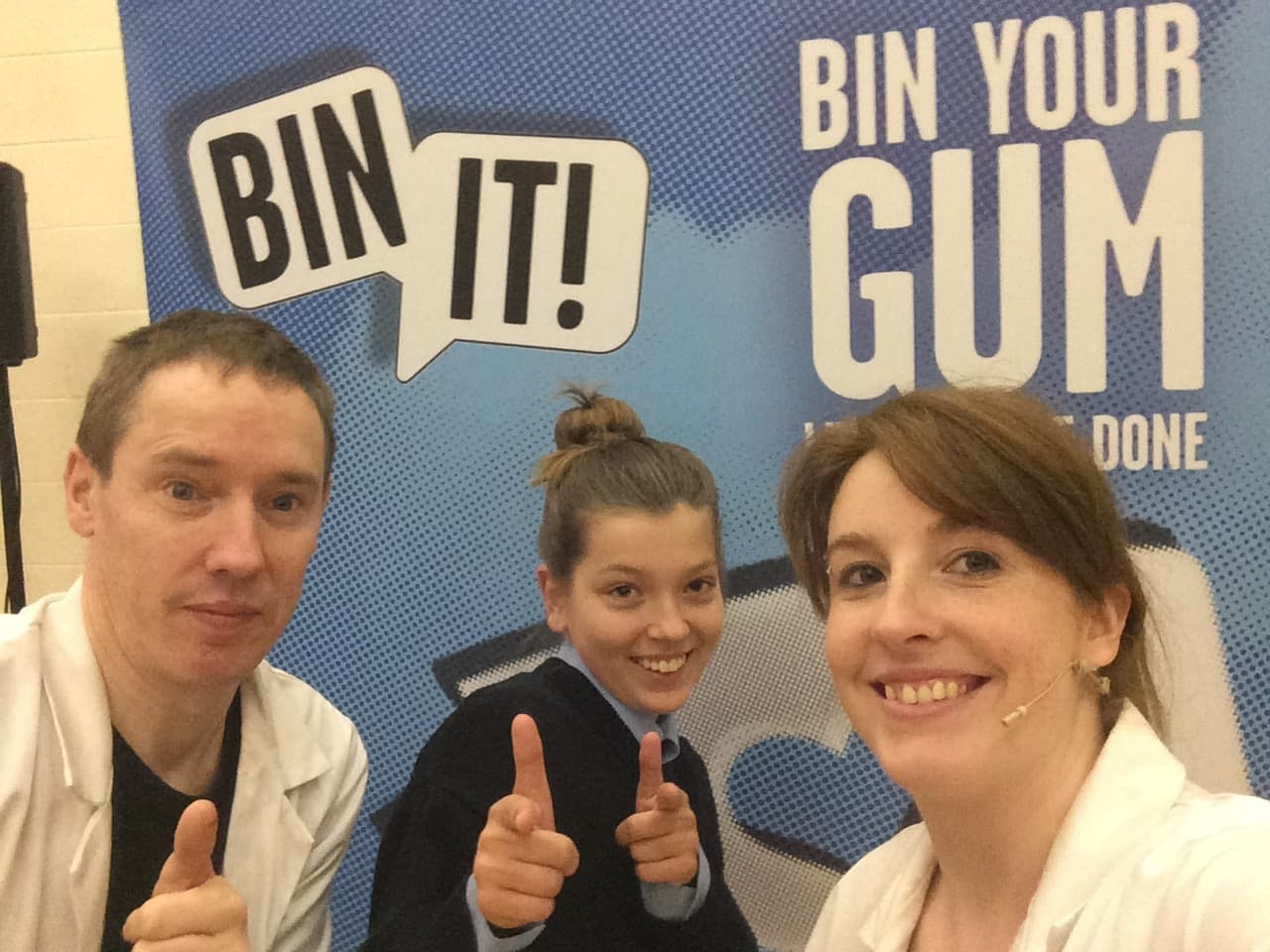 The Bin It crew at Mary Immaculate Secondary School, Lisdoonvarna