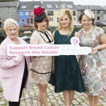 At the launch were Orla Smithwick BCR Volunteer Galway, Johanna Downes BCR Volunteer Galway, Brid O'Driscoll Milliner and Sabena Moylan.