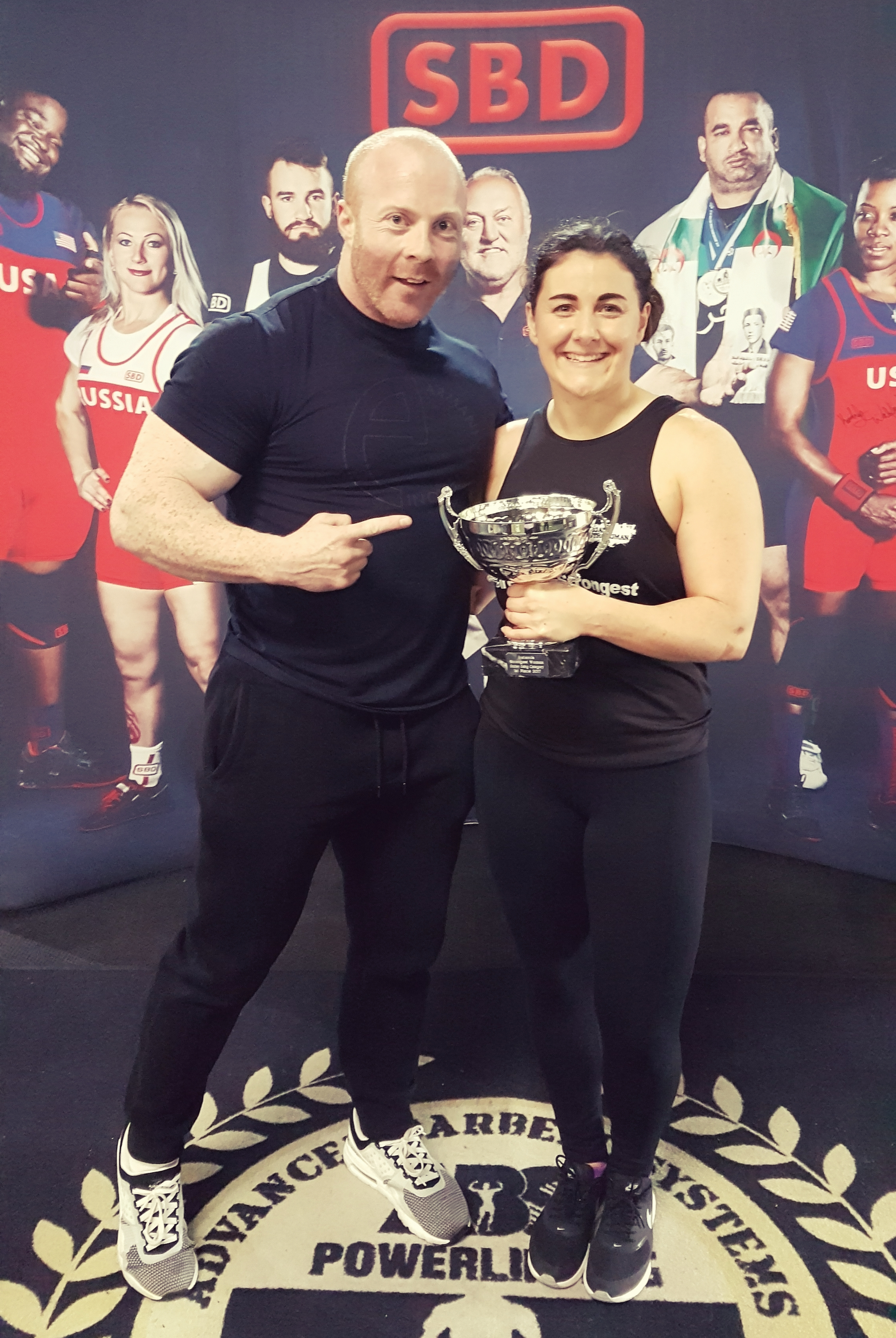 All Irelands Strongest Woman with nutrition coach Bryan Hickey