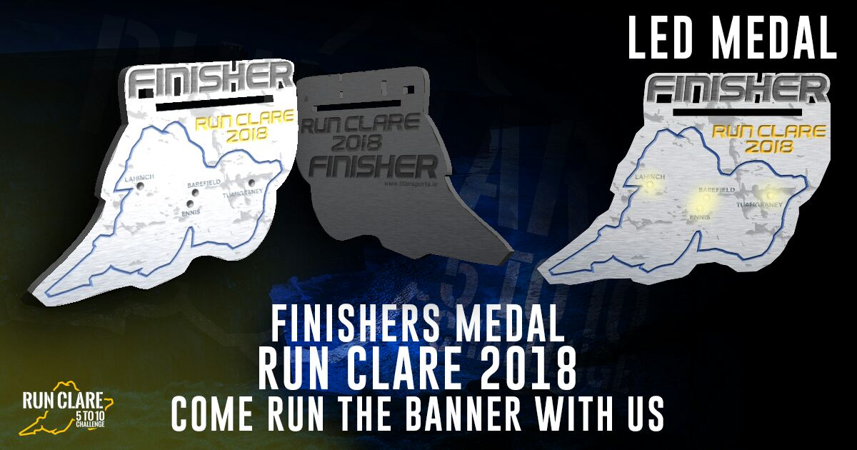 Run Clare 5 to10 Fitness Challenge finisher's medal