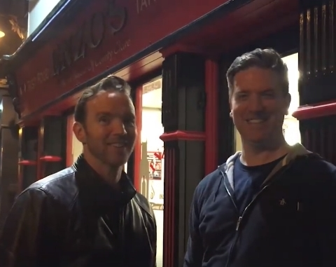 Today FM's Dermot and Dave outside Enzo's