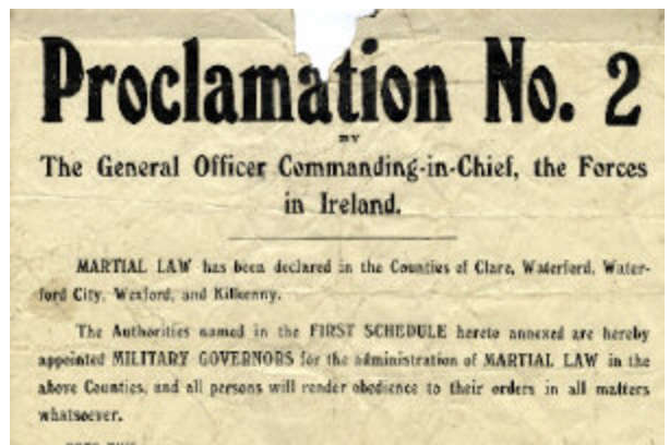 Martial Law declared in Co Clare Pic: Adams
