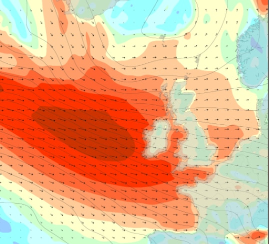 Wind chart: Magic Seaweed