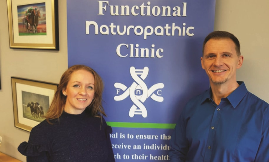 Ceara and Richard, co-owners of Functional Naturopathic Clinic in Ennis