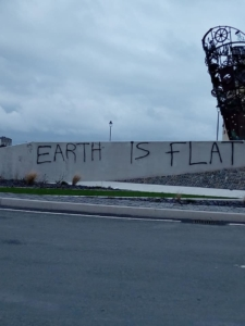 Graffiti on Kilkee roundabout. Photo by Eliza Lillis