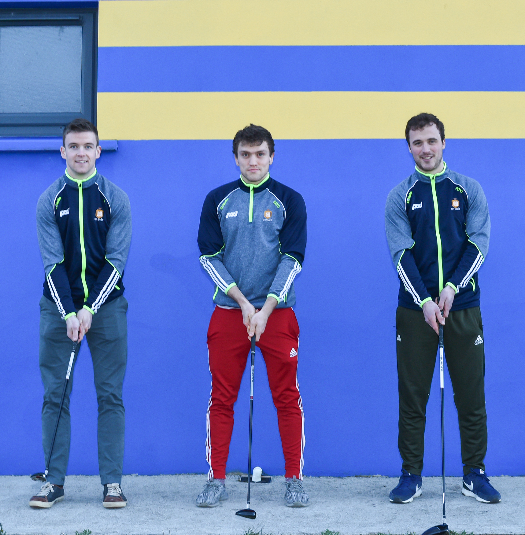Clare hurlers Tony Kelly, Shane O'Donnell and Patrick O'Connor practising their swin. Photo by Martin Connolly