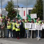The protest outside Ennis General Hospital on Saturday. Photo courtesy of Peter Flannigan