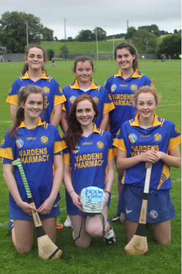 Back row - Kaci Toomey, Amy Madden, Lisa O Neill. Front - Kate Clancy, Justine Stafford, Ellen Casey. Photo by Lorraine Moroney