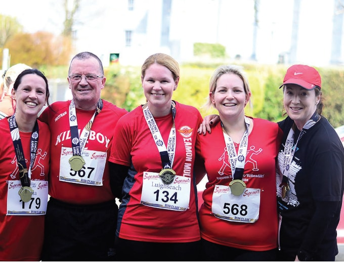 Members of the Kilnaboy AC who took part in the Run Clare series (L-R) Orla McMahon, Francis McMahon, Luighseach Long and Mary Morgan. Photo by Katie McNeill