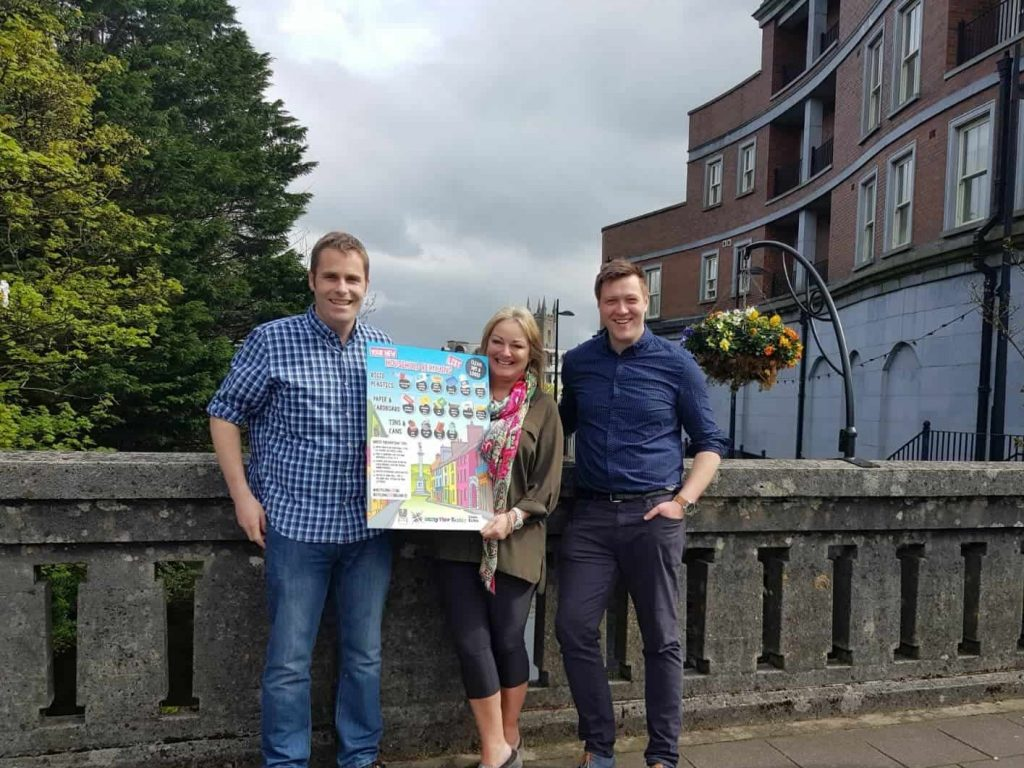 Cormac McCarthy of Ennis Tidy Towns with Cllr Mary Howard and Clare Echo editor Stuart Holly