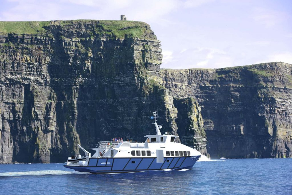 Artist's impression of the new Doolin2Aran Ferries cruise ship being built in France