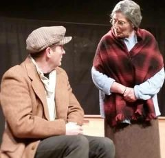 Paudie Clancy getting a scolding from Carmel Hogan in act during 'The Cripple of Inismaan' in 2016